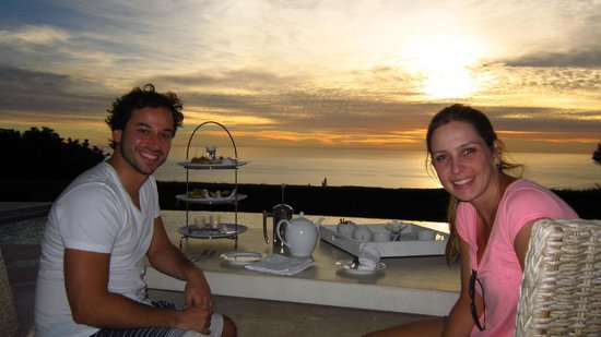 Atlantic Suites Camps Bay : My wife and I during welcome tea with sunset.