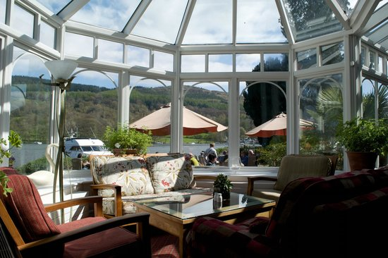 Lakeside Hotel: View from the Conservatory over Lake Windermere.