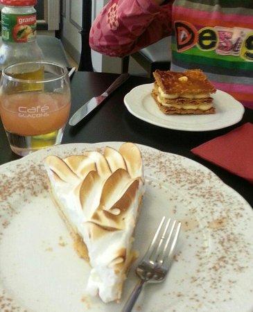 Perlette : Tarte au citron et millefeuille