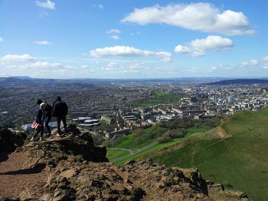 Waldorf Astoria Edinburgh - The Caledonian: View over the city from Arthurs Seat