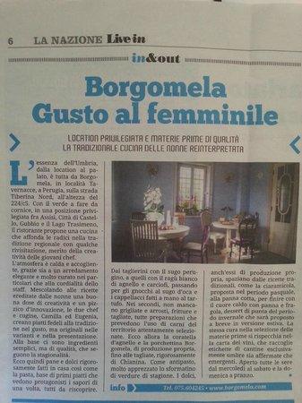 Borgomela: Il quotidiano La Nazione dice di noi (25.04.14)
