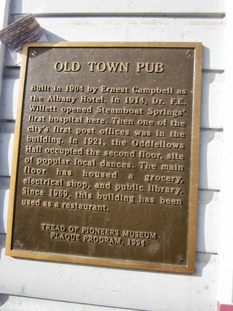 Old Town Pub & Restaurant: A little history