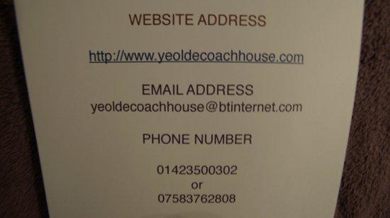Ye Olde Coach House: Yeoldecoachhouse.com