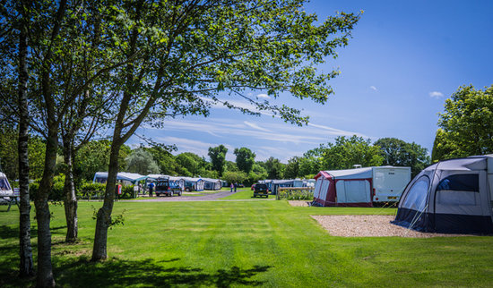 Monkton Wyld Caravan and Camping Park: Plenty of room at our Park not to feel overlooked