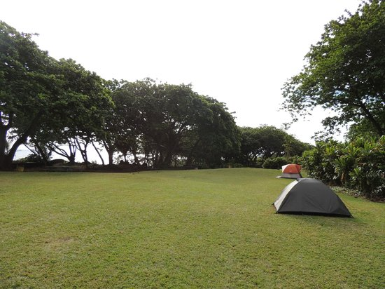 Waianapanapa State Park Cabins : First night very private, Friday night much more crowded