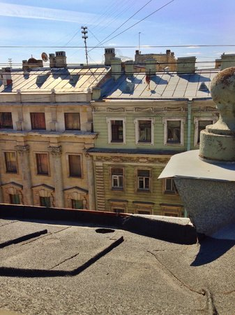 Stony Island Hotel: View from attic suite window