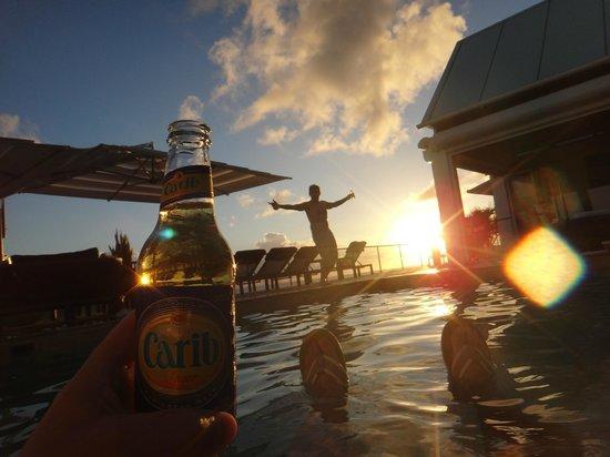 CeBlue Villas and Beach Resort: View from Splash Pool