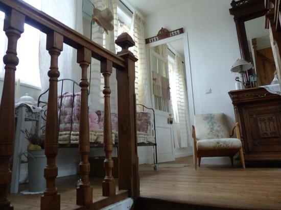 Manoir les Arums : Hall de l'étage où sont les chambres