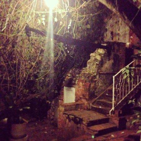 Hotel Florita: The courtyard at night.