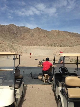 Desert Hills Shooting Club: The target is the white dot on the middle of the hillside