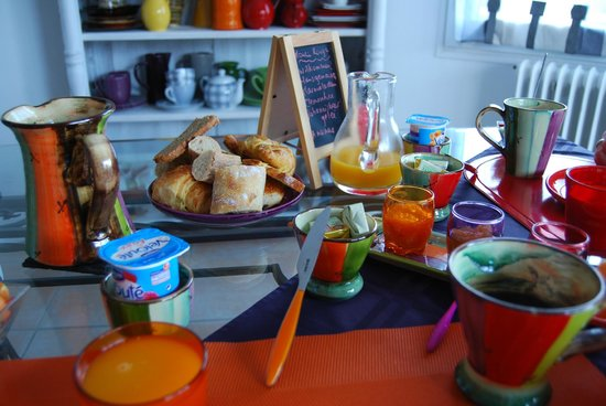 Chambres d'hotes Nuits d'Azur : Breakfast