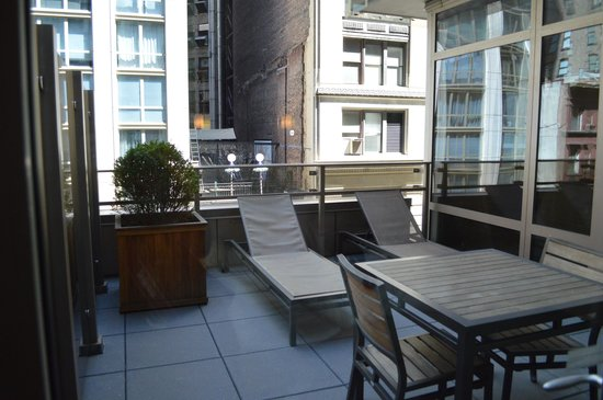 Gansevoort Park Avenue NYC: Room 407 fabulous PRIVATE balcony