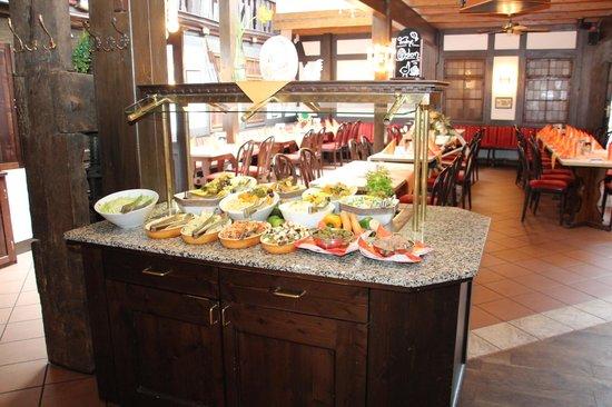Brauhaus zum Löwen: Das vorbereitete Abendessen