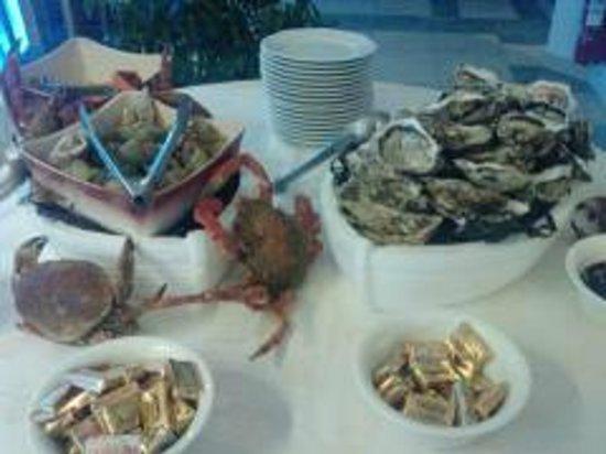 La Lagune Beach Resort and Spa : huites à volonté chaque jour