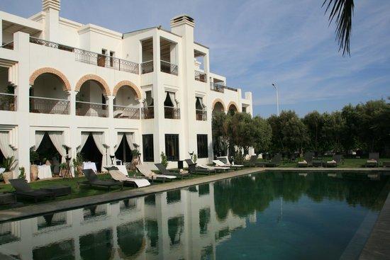 Riad Villa Blanche: Garten mit Pool