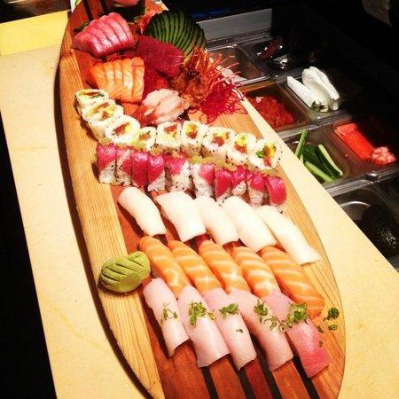 The Bento Box sushi: sushi surfboard