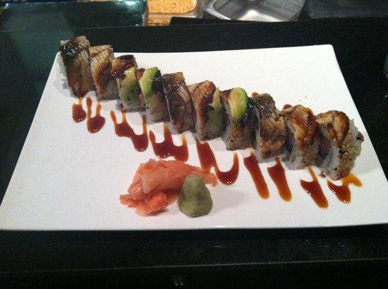 The Bento Box sushi: yum