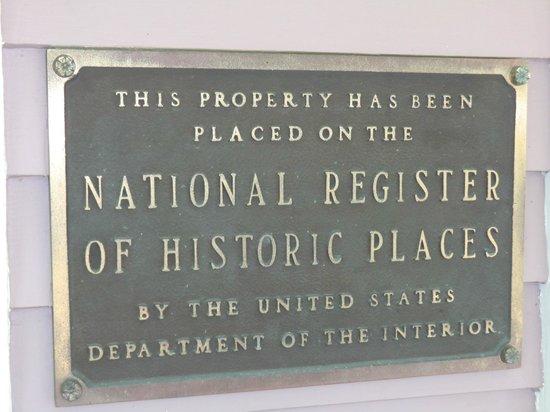 Angel of the Berwicks: National Register Plaque