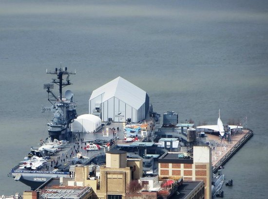 Intrepid Sea, Air & Space Museum: USS Intrepid viewed from Top of the Rock.
