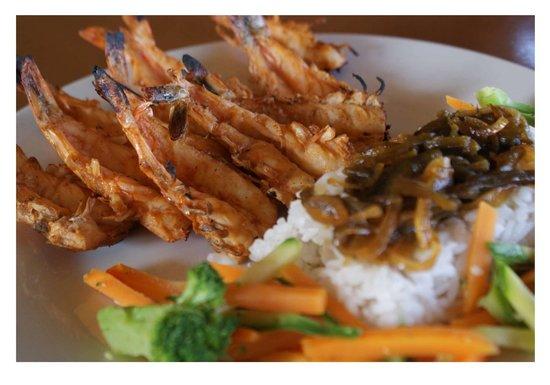 El Risco Restaurant & Bar: Camarones, delicioso