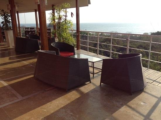 Hotel Moana: vue spectaculaire de la terasse du resto