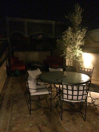 Riad Anjar: The roof terrace