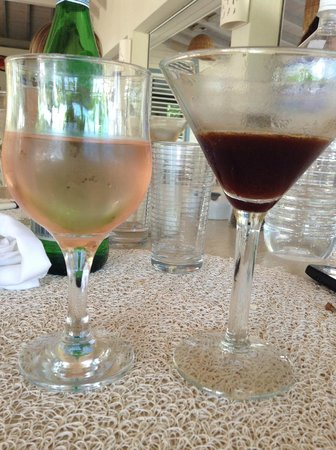 Catherines Cafe Plage: double fisting the rose espresso and martini