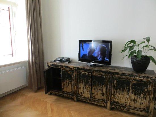 Retezova Apartments: part of the living room