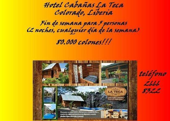 Hotel Cabanas La Teca: PROMOCION