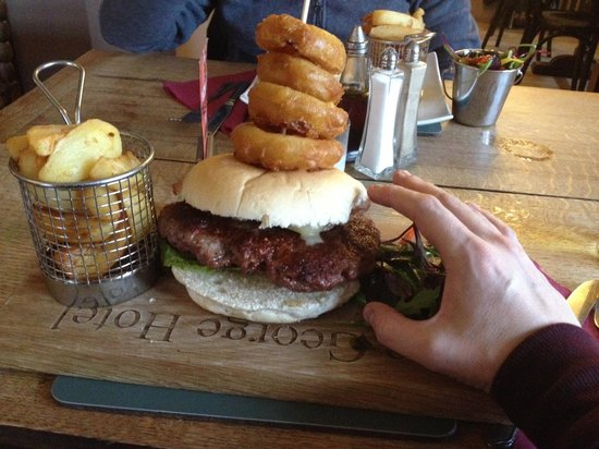 Huge George Burger at The George Hotel!