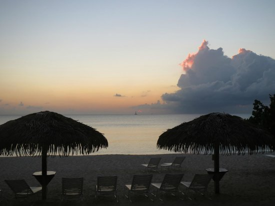 Caribbean Club: View from our beachfront porch