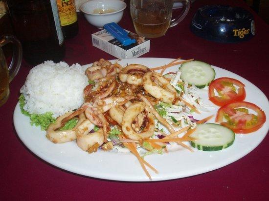 Mandarin Cafe: great squid