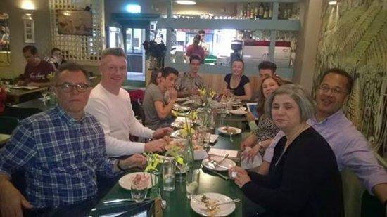La Pizzeria Italiana : Family and friends with Janet & Leonardo of La Pizzeria Italiano. Smile!