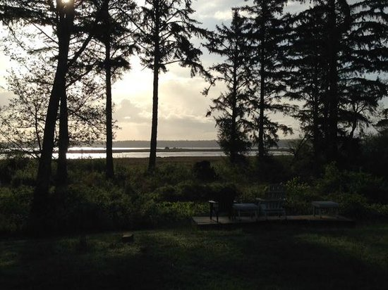 Westport Bayside Bed & Breakfast : View east from the B&B across Grays Harbor