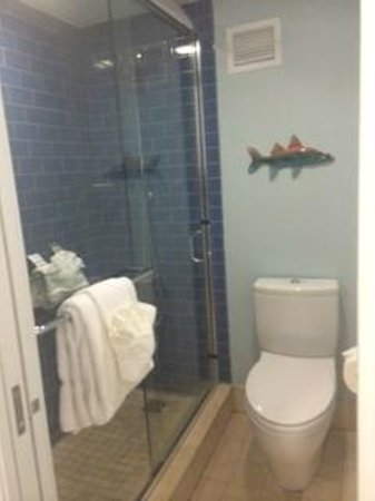 The Naples Beach Hotel & Golf Club: shower area with sliding door