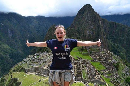 Inti Sun Trek: Happy Tourist in Machu Picchu