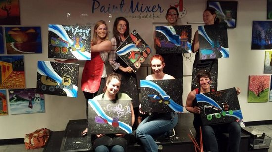 The Paint Mixer: My group with our finished products