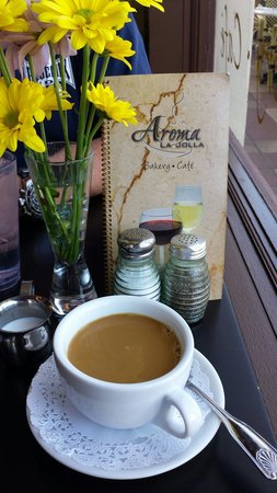 Aroma Bakery and Cafe La Jolla : Delicious coffee