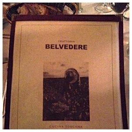 Trattoria Belvedere : Menu