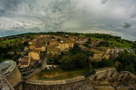 La Rocca di Staggia: Vista del paese dalla Torre