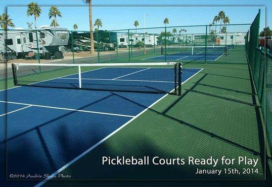 Mesa Spirit RV Resort: Pickle Ball Courts