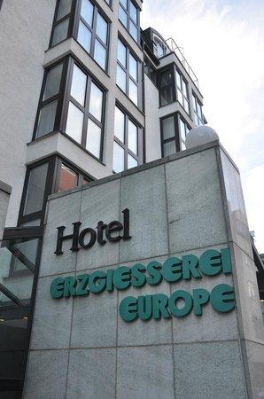 Hotel Erzgiesserei Europe: The front door