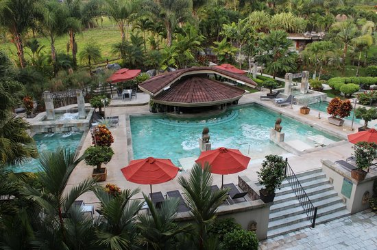 The Royal Corin Thermal Water Spa & Resort : Pool area/view from the room's balcony