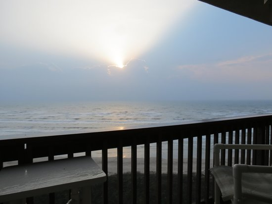 Sandpiper Condominiums : The sunrise cannot be equaled anyplace or anywhere. Sitting on the balcony with coffee and remem