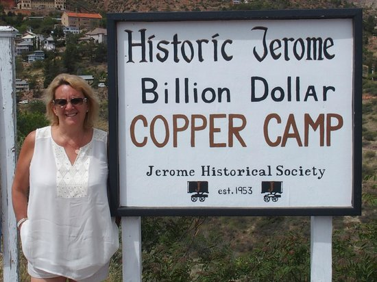 Jerome State Historic Park: On entry to the town