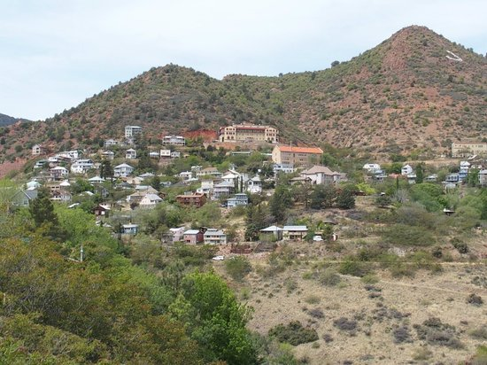 Jerome State Historic Park: Jerome from about one mile away