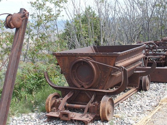 Jerome State Historic Park: Copper mining relics