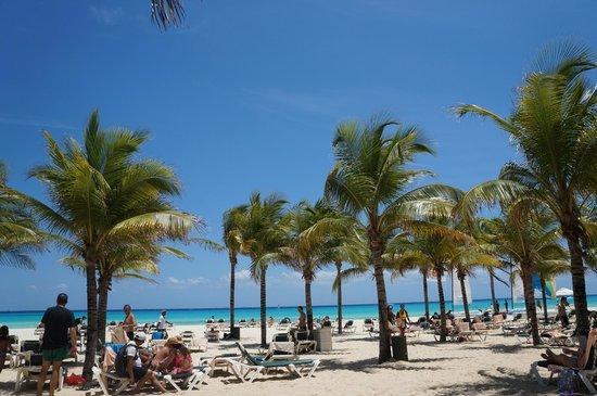 Hotel Riu Playacar : Vista da praia