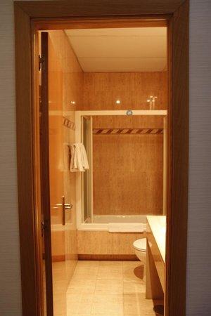 Hotel Plaza Mayor: Our bathroom.