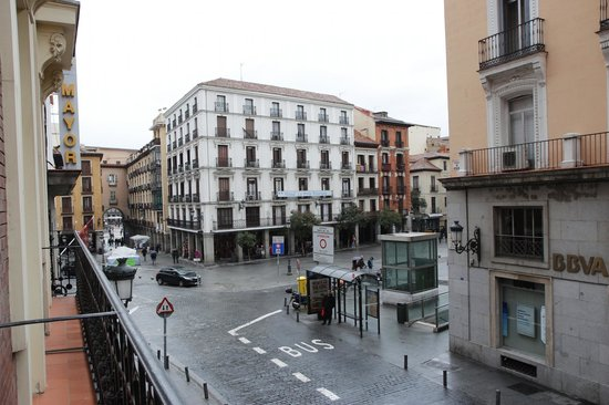 Hotel Plaza Mayor: View from our balcony looking toward Plaza Mayor.